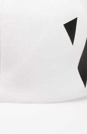 Мужской хлопковая бейсболка OFF-WHITE белого цвета, арт. 0MLB008R204000180110   Фото 3