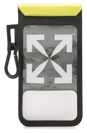 Мужского чехол для iphone OFF-WHITE черно-белого цвета, арт. 0MVM005R20D340201001 | Фото 1