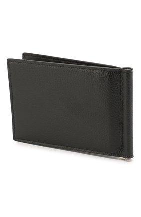 Мужской кожаный зажим для денег BALENCIAGA черно-белого цвета, арт. 594308/1IZ43 | Фото 2