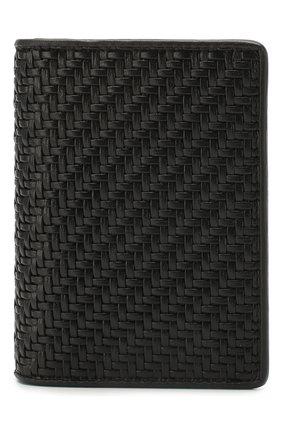 Мужской кожаный футляр для кредитных карт ERMENEGILDO ZEGNA черного цвета, арт. E1209P-LHPTA | Фото 1