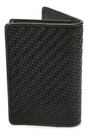 Мужской кожаный футляр для кредитных карт ERMENEGILDO ZEGNA черного цвета, арт. E1209P-LHPTA | Фото 2