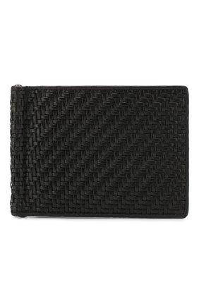 Мужской кожаный зажим для денег ERMENEGILDO ZEGNA черного цвета, арт. E1245P-LHPTA | Фото 1
