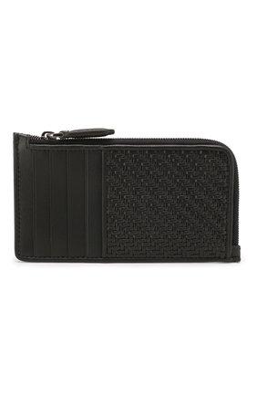 Мужской кожаный футляр для кредитных карт ERMENEGILDO ZEGNA черного цвета, арт. E1571P-LHPTA | Фото 1