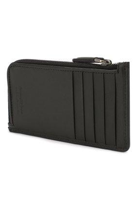 Мужской кожаный футляр для кредитных карт ERMENEGILDO ZEGNA черного цвета, арт. E1571P-LHPTA | Фото 2