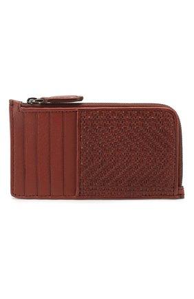 Мужской кожаный футляр для кредитных карт ERMENEGILDO ZEGNA красного цвета, арт. E1571P-LHPUN | Фото 1