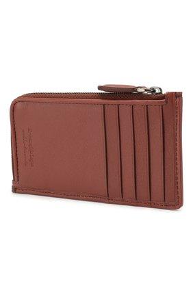 Мужской кожаный футляр для кредитных карт ERMENEGILDO ZEGNA красного цвета, арт. E1571P-LHPUN | Фото 2