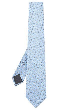 Мужской шелковый галстук ERMENEGILDO ZEGNA голубого цвета, арт. Z7E11/1L8 | Фото 2