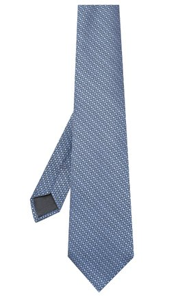 Мужской шелковый галстук ERMENEGILDO ZEGNA голубого цвета, арт. Z7E61/1UM | Фото 2