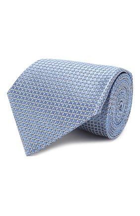 Мужской шелковый галстук ERMENEGILDO ZEGNA голубого цвета, арт. Z7E61/1UM | Фото 1