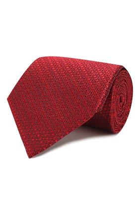 Мужской шелковый галстук ERMENEGILDO ZEGNA красного цвета, арт. Z7E64/1UM | Фото 1