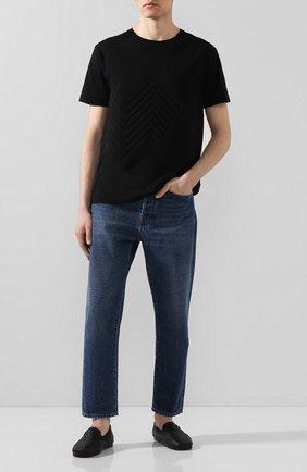 Мужские кожаные слиперы BOTTEGA VENETA черного цвета, арт. 611145/VBSN0 | Фото 2