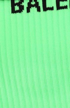 Мужские носки BALENCIAGA зеленого цвета, арт. 585526/479B0 | Фото 2