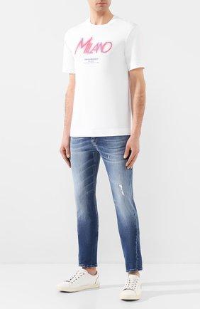Мужская хлопковая футболка EMPORIO ARMANI белого цвета, арт. 3H1TP0/1JCQZ   Фото 2
