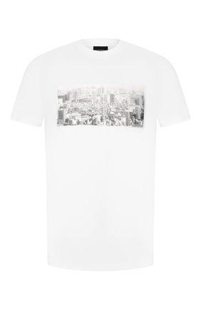 Мужская хлопковая футболка EMPORIO ARMANI белого цвета, арт. 3H1T62/1J30Z   Фото 1