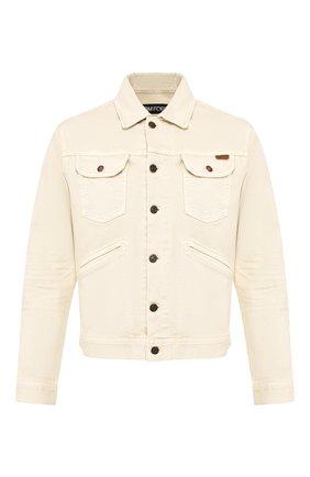 Мужская хлопковая куртка TOM FORD светло-бежевого цвета, арт. BUJ35/TFD116 | Фото 1