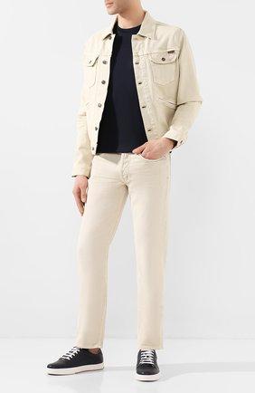 Мужская хлопковая куртка TOM FORD светло-бежевого цвета, арт. BUJ35/TFD116 | Фото 2