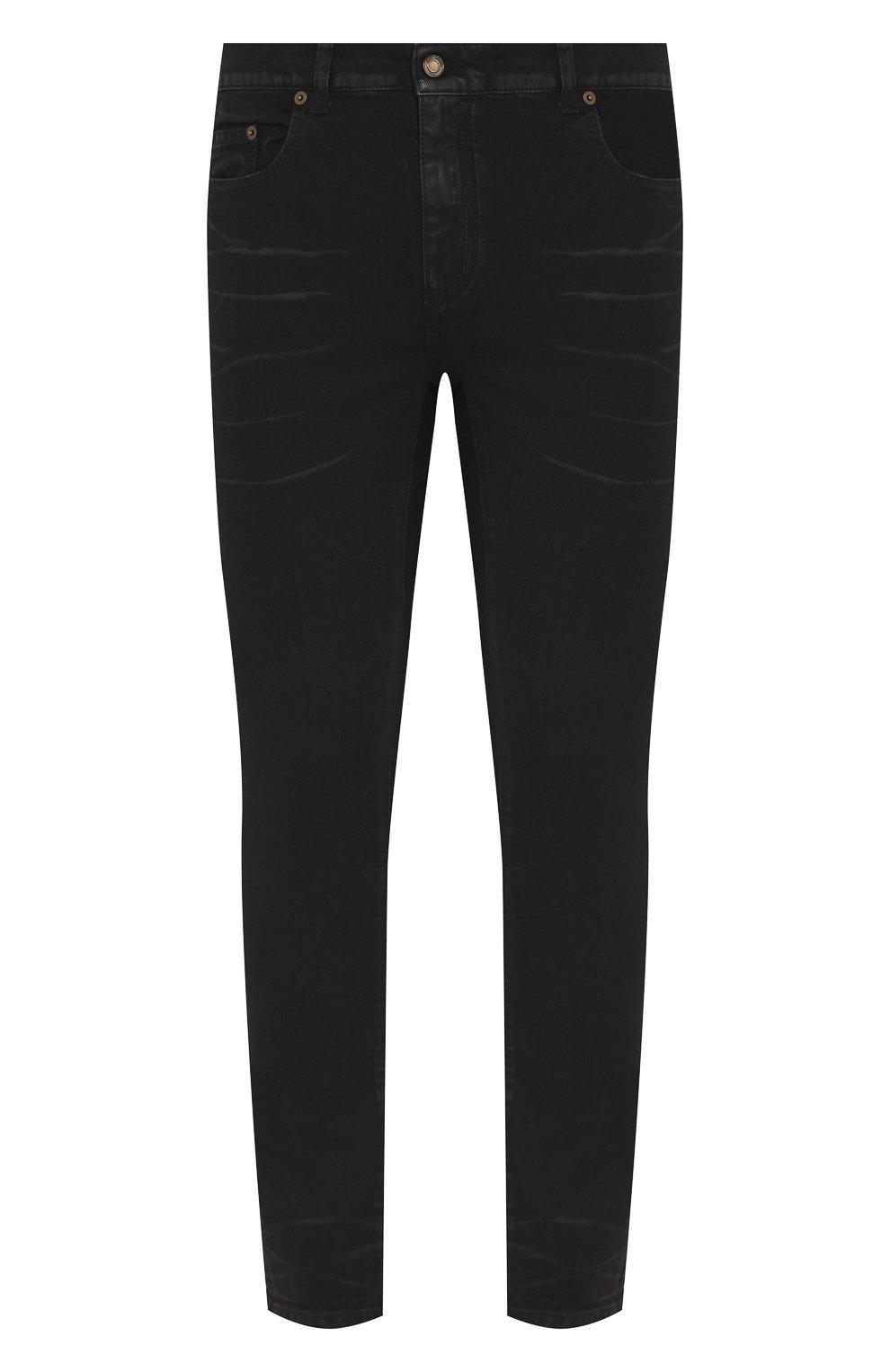 Мужские джинсы SAINT LAURENT черного цвета, арт. 601478/Y500A | Фото 1