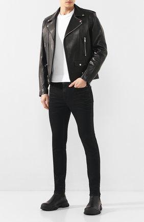 Мужские джинсы SAINT LAURENT черного цвета, арт. 601478/Y500A | Фото 2