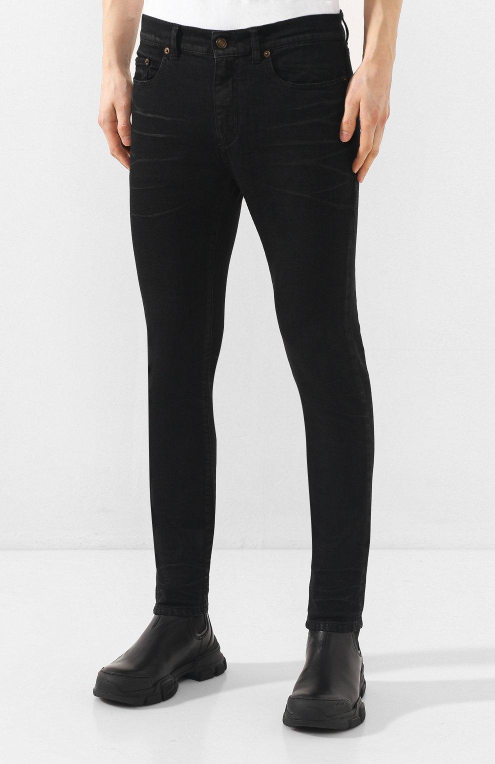 Мужские джинсы SAINT LAURENT черного цвета, арт. 601478/Y500A | Фото 3