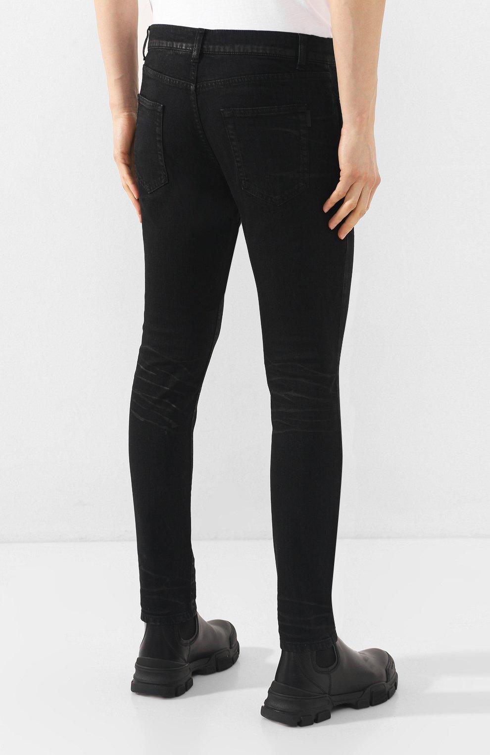 Мужские джинсы SAINT LAURENT черного цвета, арт. 601478/Y500A | Фото 4