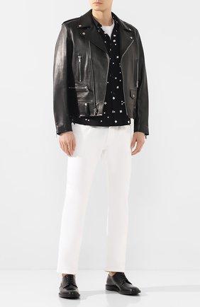 Мужская рубашка из вискозы SAINT LAURENT черного цвета, арт. 601070/Y1A79 | Фото 2