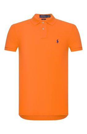 Мужское хлопковое поло POLO RALPH LAUREN оранжевого цвета, арт. 710795080 | Фото 1