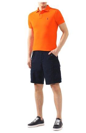 Мужское хлопковое поло POLO RALPH LAUREN оранжевого цвета, арт. 710795080   Фото 2