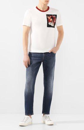 Мужские джинсы DOLCE & GABBANA синего цвета, арт. GY07CZ/G8BY5 | Фото 2
