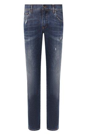 Мужские джинсы DOLCE & GABBANA синего цвета, арт. GY07CD/G8CI2   Фото 1