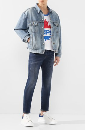 Мужские джинсы DOLCE & GABBANA синего цвета, арт. GY07CD/G8CI2   Фото 2