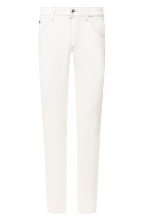 Мужские джинсы DOLCE & GABBANA белого цвета, арт. GY07CD/G8BZ8 | Фото 1