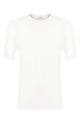 Мужской хлопковый джемпер ALTEA белого цвета, арт. 2051012   Фото 1