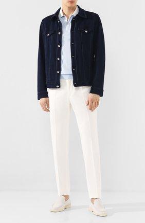 Мужской брюки из смеси хлопка и кашемира ZILLI белого цвета, арт. M0T-40-S1-C6045/0001 | Фото 2
