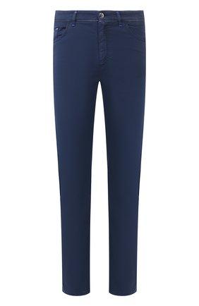 Мужской брюки из смеси хлопка и шелка ZILLI темно-синего цвета, арт. M0T-D0120-SPTE1/R001 | Фото 1