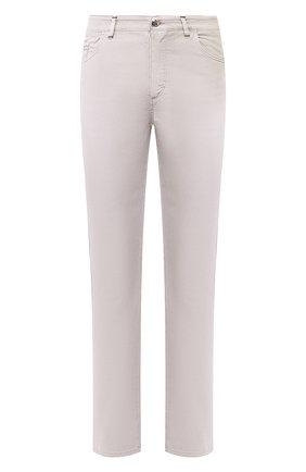 Мужской брюки из смеси хлопка и шелка ZILLI светло-серого цвета, арт. M0T-D0120-SPTE1/R001 | Фото 1