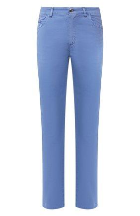 Мужской брюки из смеси хлопка и шелка ZILLI голубого цвета, арт. M0T-D0120-SPTE1/R001 | Фото 1