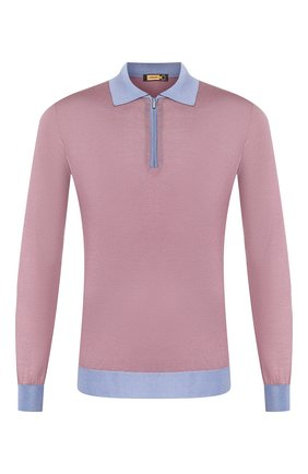 Мужское шелковое поло ZILLI светло-розового цвета, арт. MBT-PZ062-0PTI1/ML01 | Фото 1