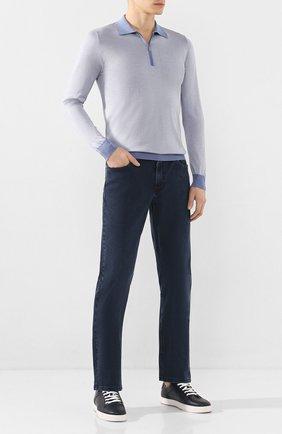 Мужские джинсы ZILLI темно-синего цвета, арт. MCT-00099-DSBL1/R001 | Фото 2