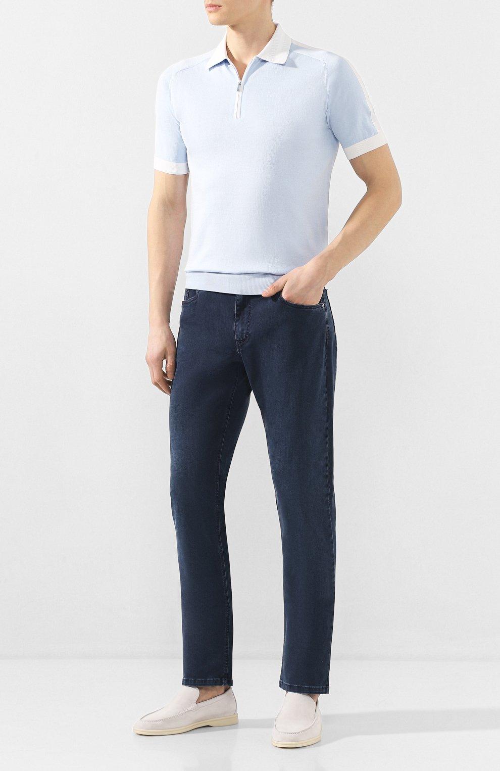 Мужские джинсы ZILLI синего цвета, арт. MCT-00099-DSBL1/S001   Фото 2