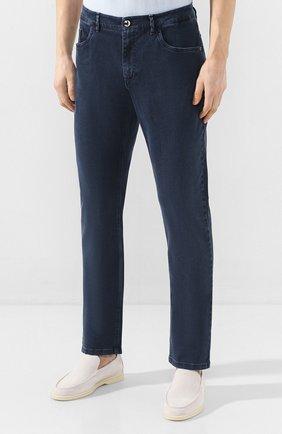 Мужские джинсы ZILLI синего цвета, арт. MCT-00099-DSBL1/S001   Фото 3