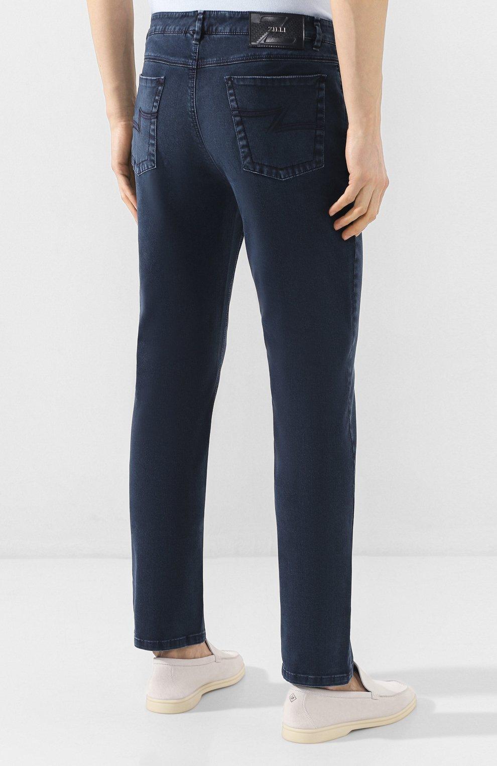Мужские джинсы ZILLI синего цвета, арт. MCT-00099-DSBL1/S001   Фото 4