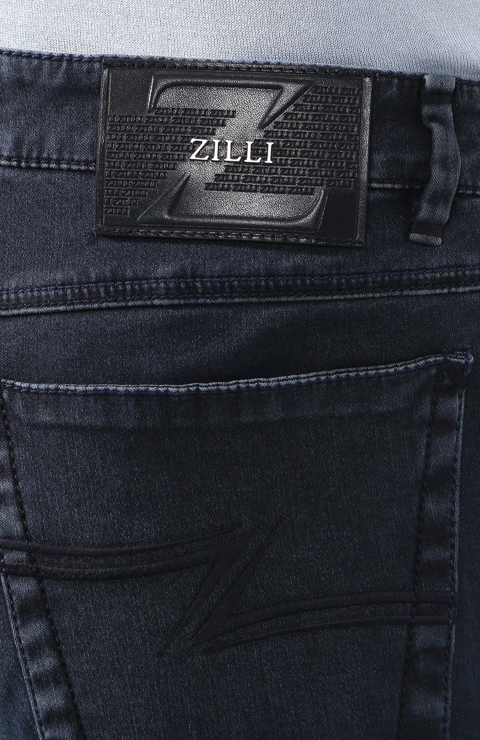 Мужские джинсы ZILLI синего цвета, арт. MCT-00099-DSBL1/S001   Фото 5