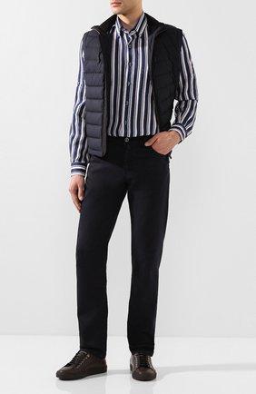 Мужская льняная рубашка ZILLI темно-синего цвета, арт. MFT-02103-84062/RZ01 | Фото 2