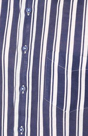 Мужская льняная рубашка ZILLI темно-синего цвета, арт. MFT-02103-84062/RZ01   Фото 5