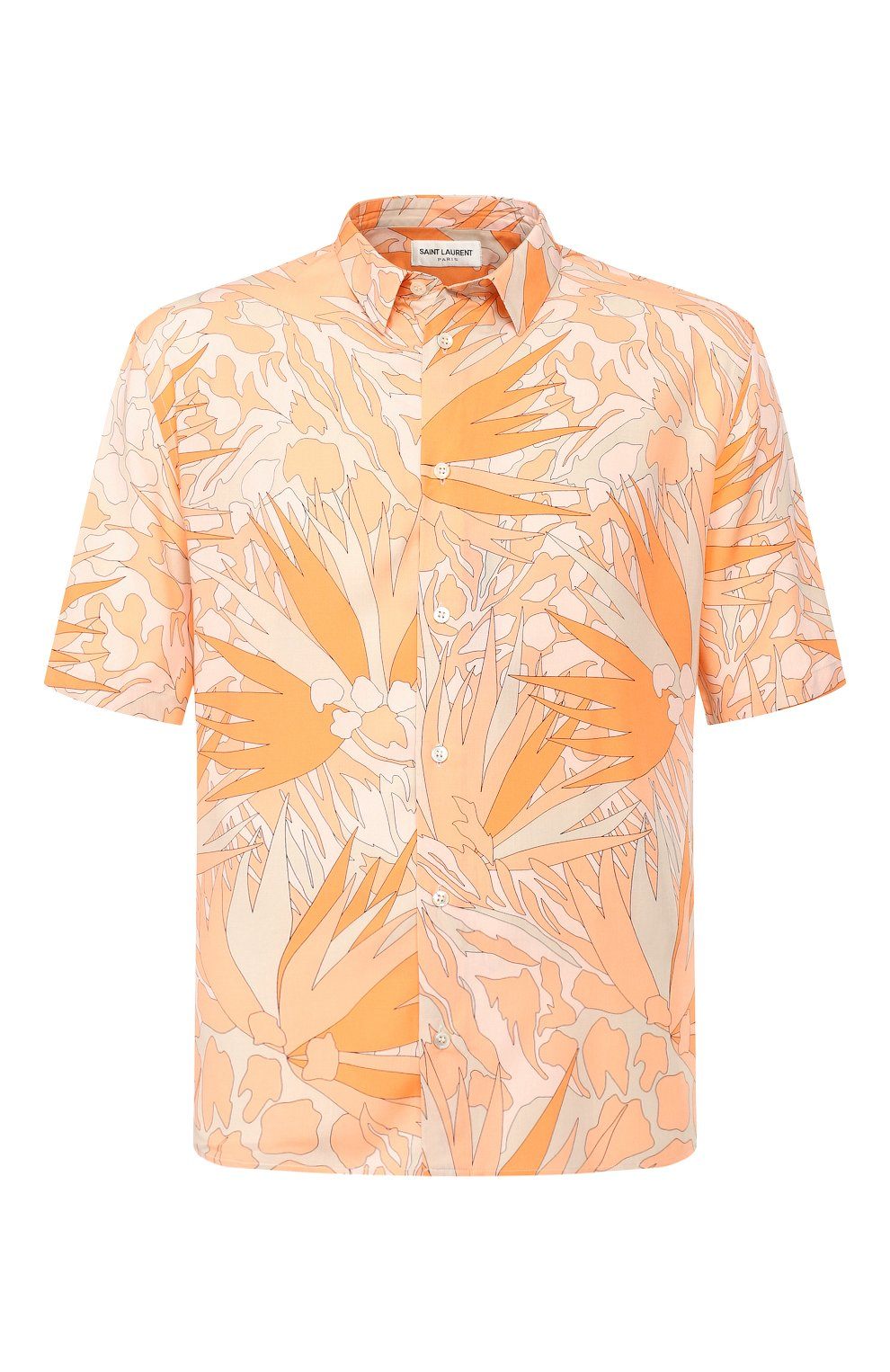 Мужская рубашка из вискозы SAINT LAURENT оранжевого цвета, арт. 601070/Y2A27 | Фото 1
