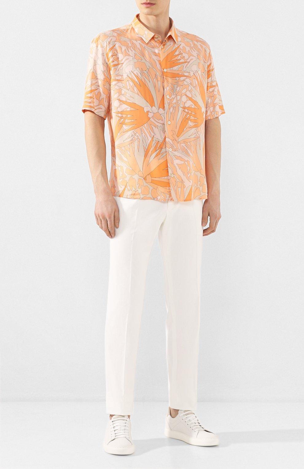Мужская рубашка из вискозы SAINT LAURENT оранжевого цвета, арт. 601070/Y2A27 | Фото 2