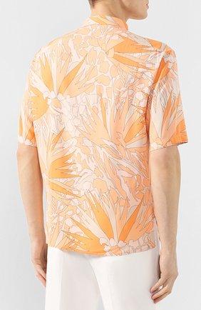 Мужская рубашка из вискозы SAINT LAURENT оранжевого цвета, арт. 601070/Y2A27 | Фото 4