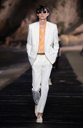 Мужская рубашка из вискозы SAINT LAURENT оранжевого цвета, арт. 601070/Y2A27 | Фото 6