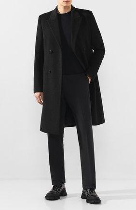 Мужской пальто из смеси шерсти и кашемира BOTTEGA VENETA темно-серого цвета, арт. 599294/VKLU0 | Фото 2