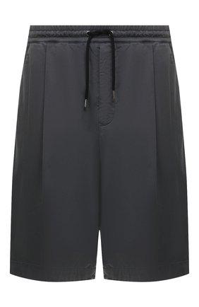 Мужские хлопковые шорты GIORGIO ARMANI серого цвета, арт. 9SGPB003/T01MP | Фото 1